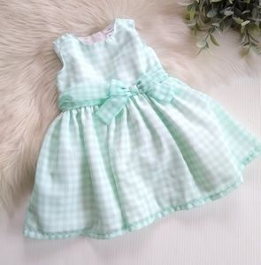 Carter's • mint plaid baby 6mo Easter spring dress